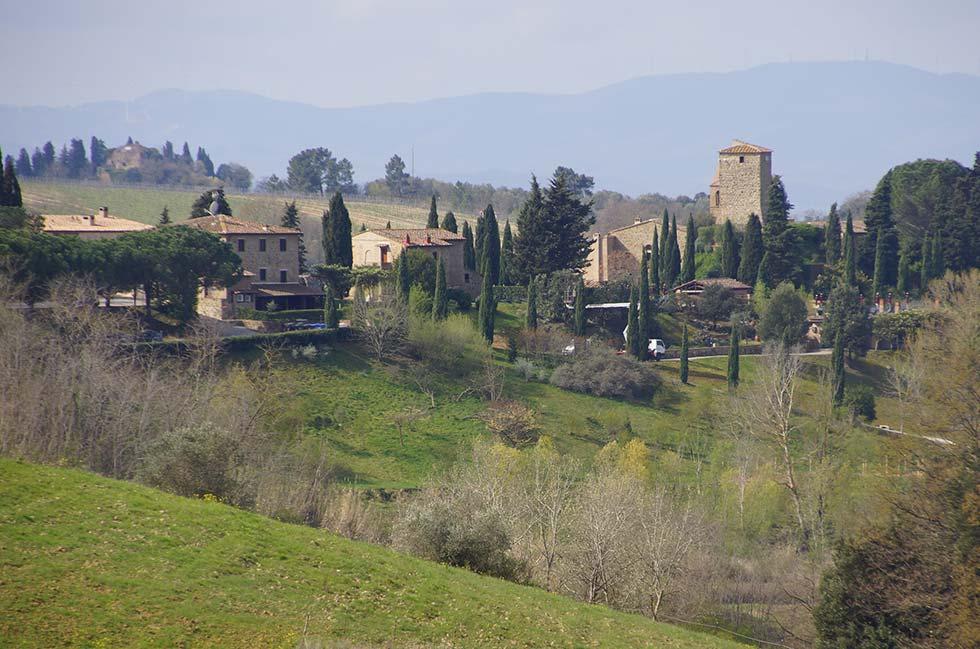Trekking Montaione, Rigone in Chianti, agriturismo