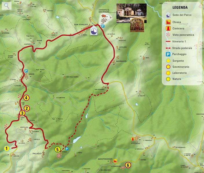 Itinerario Parco Benestare, Rigone in Chianti, agriturismo