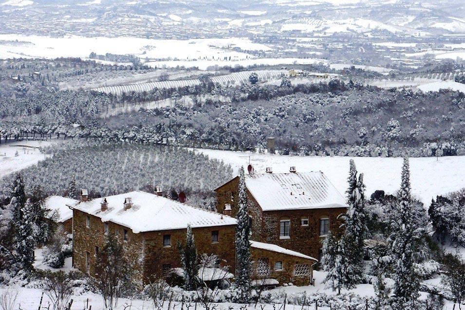 Neve, Agriturismo Rigone in Chianti, Toscana